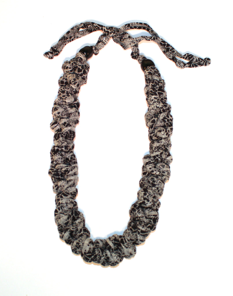 Grey and Black Patterned Necklace