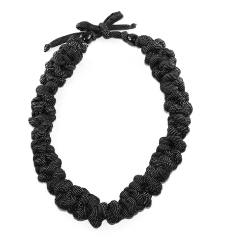 Black Denim Necklace