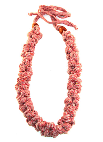 Pink Denim Necklace