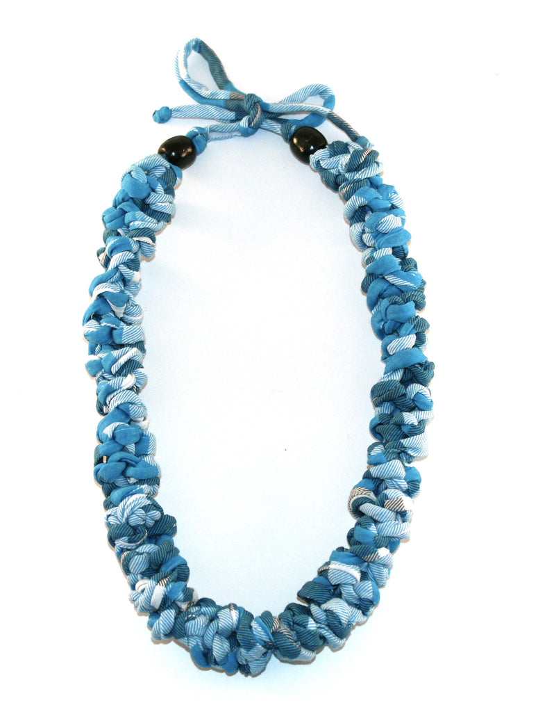 Blue Chequered Necklace