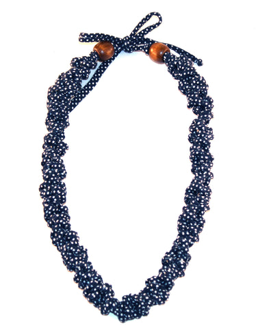 Navy Polka Dot Necklace