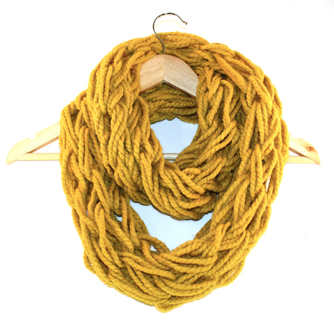 Barley Arm Knitted Infinity Scarf