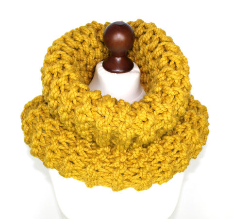 Mustard Super Chunky Cowl