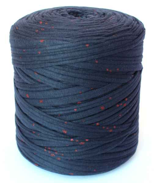 Navy with Red Dots T-Shirt Yarn