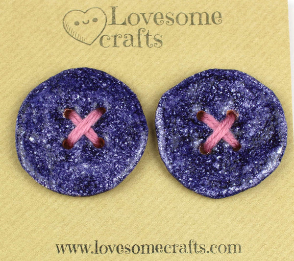 Purple Ceramic Buttons