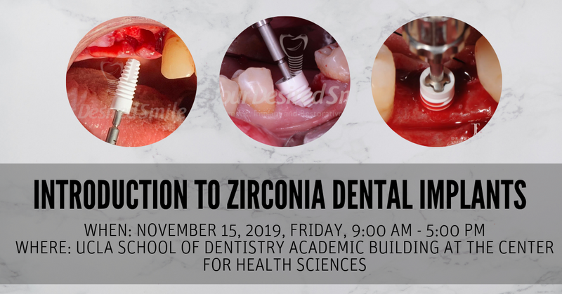 Hands-on Workshop: Introduction to Zirconia Dental Implants