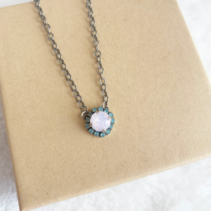 Floorboard Findings Swarovski Necklace • Spring Opal Collection • Rose Water Opal & Pacific Opal