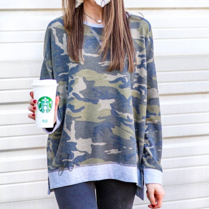 Camo High-Low Tunic