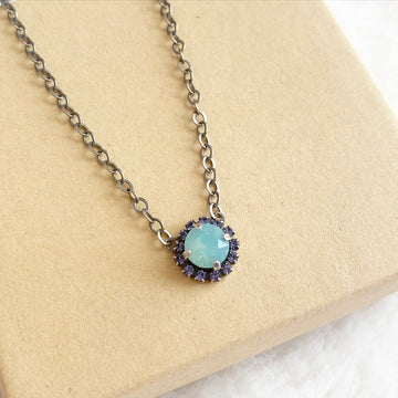 Floorboard Findings Swarovski Necklace • Spring Opal Collection • Pacific Opal & Tanzanite