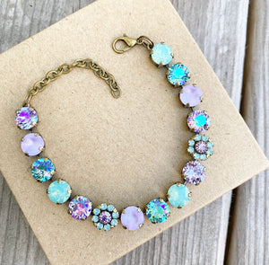 "NEW✨ Floorboard Findings Swarovski Crystal Bracelet in ""Pacific Purple"" Collection"