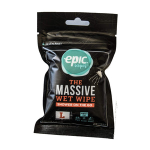 Encore, LLC Epic Wipes, 20-Pack Large Wet Wipes, Biodegradable Residue-Free Shower Substitute, Big on-The-go Bamboo Body Wipes