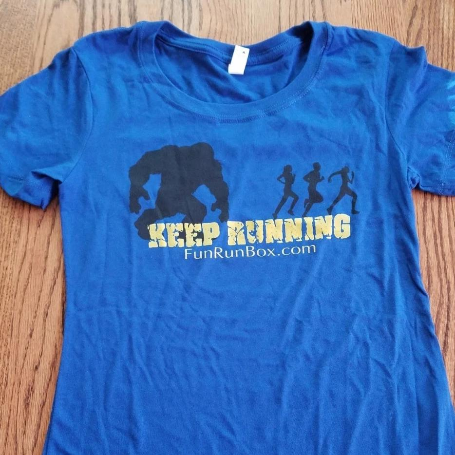 Men's Keep Running Short Sleeve Cotton Shirt - Fun Run Box