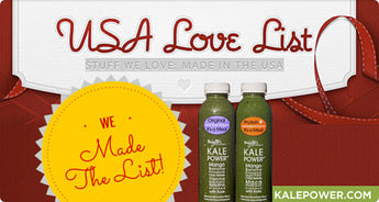 "Kale Power Made the ""13 Made in The USA Options to Kick Start Your Detox Cleanse"" list!"