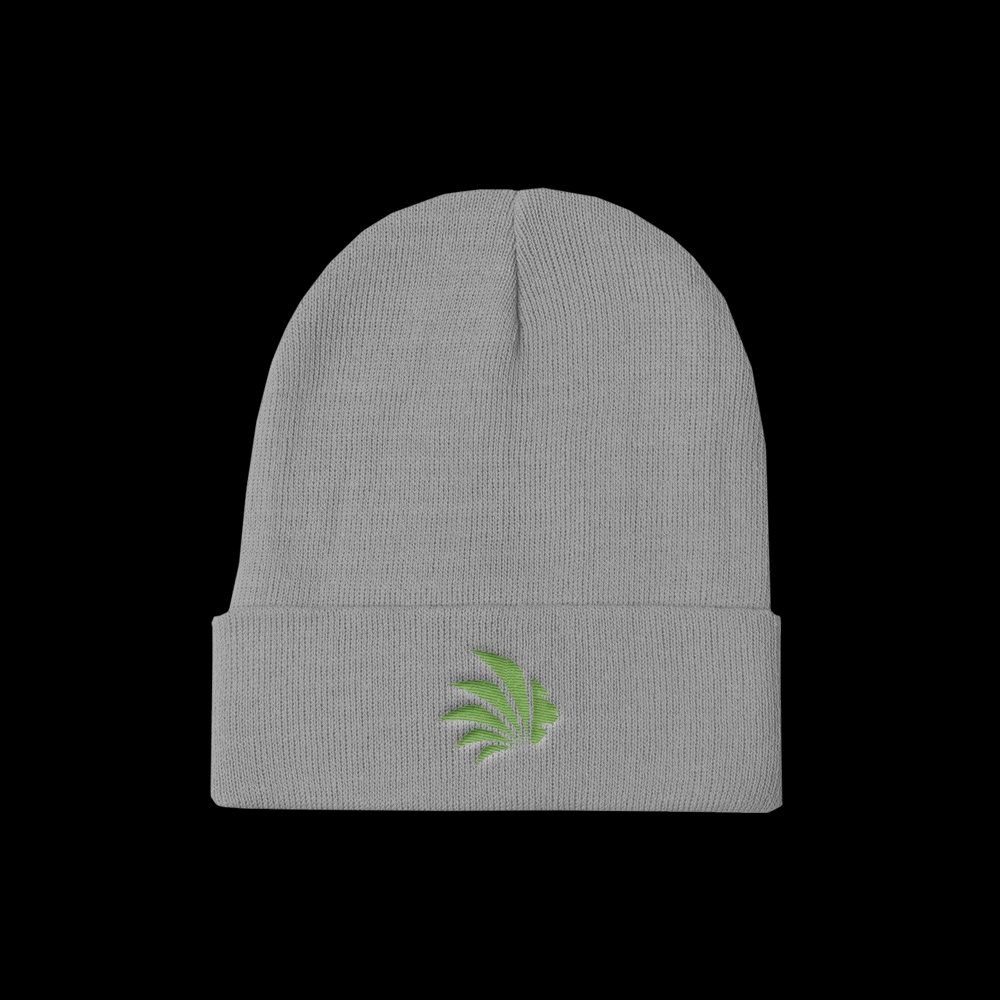 Jungle Control Green Logo Knit Beanie