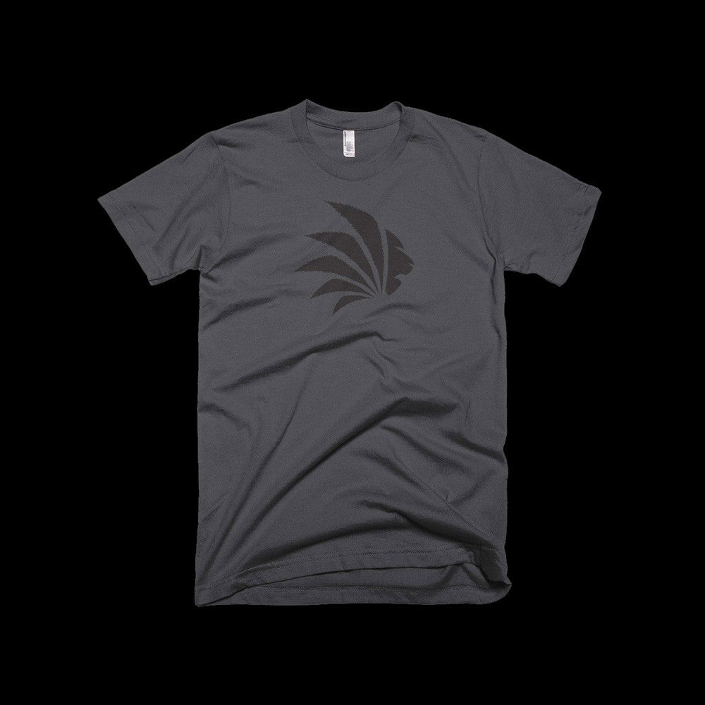 Jungle Control Logo Tee, Men's Gray Short Sleeve