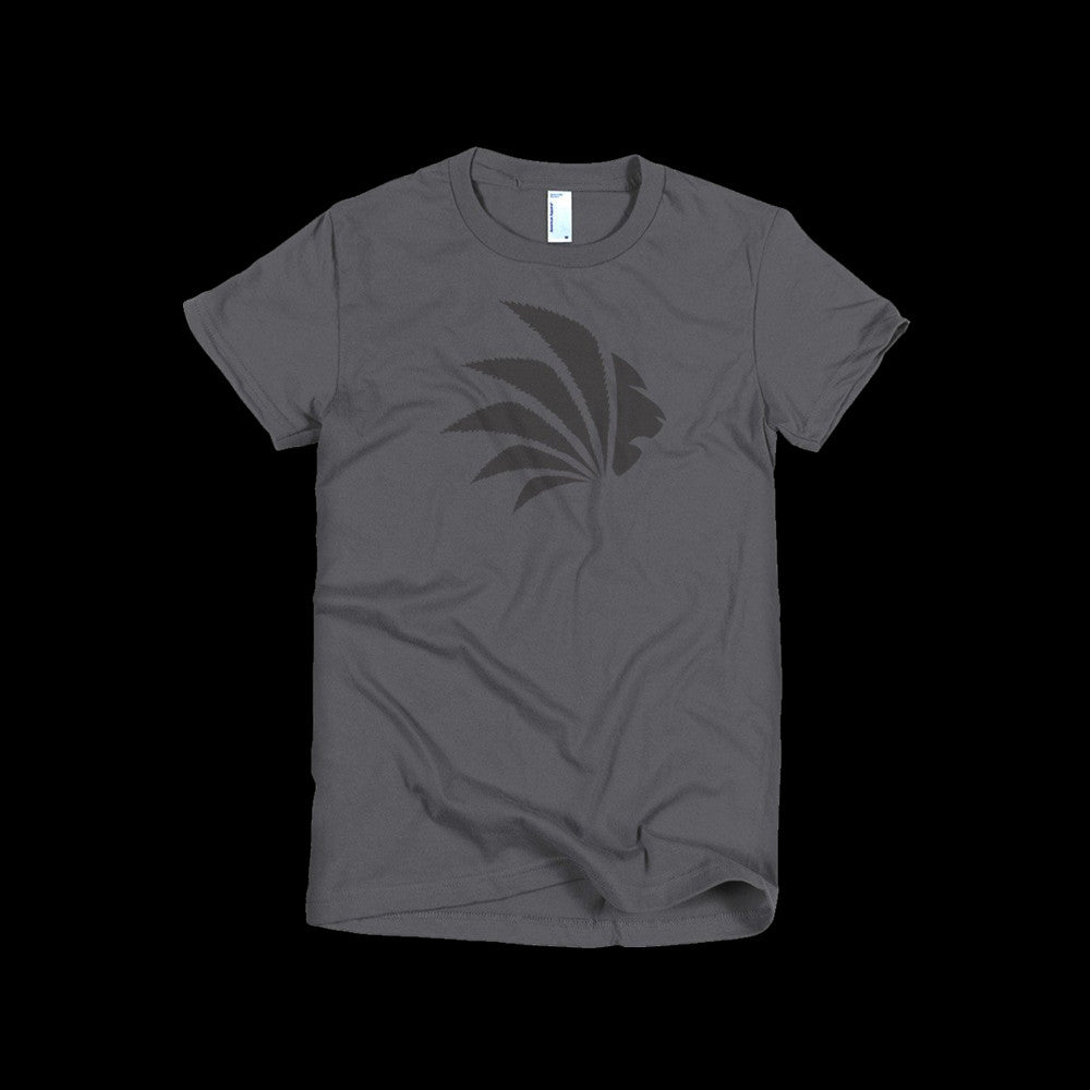 Jungle Control Logo Tee, Women's Gray Short Sleeve