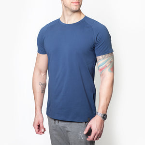Astra Athletica Victor Crew Tee Men Activewear Workout Fitness Gym Clothes Tops Athleisure Fitted Cotton Elastane Spandex