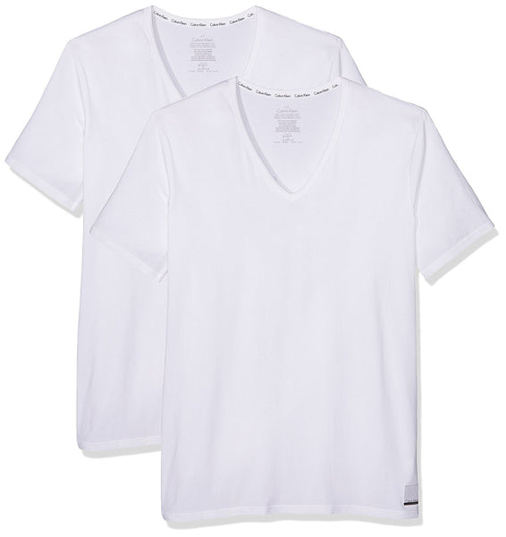 ID Cotton V Neck T-Shirt (2 Pack)