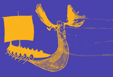Minnesota Vikings Inspired - The Longboat Print