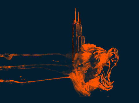 Chicago Bears Inspired - Windy City Print