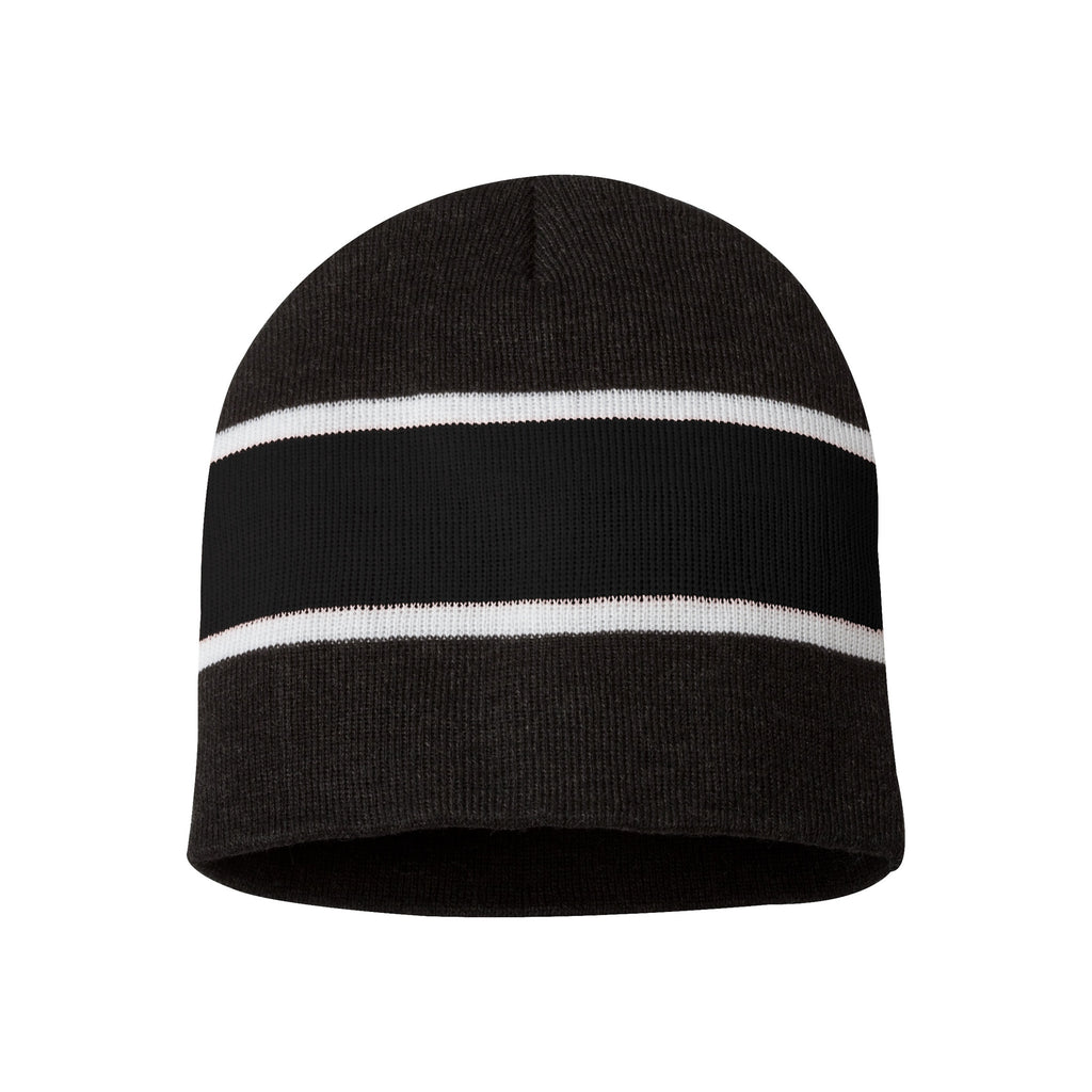 Sportsman Striped Knit Hat