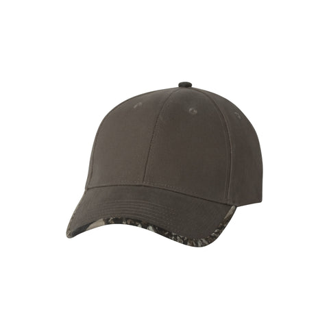 Kati Solid/Camo Contrast Bill Hat