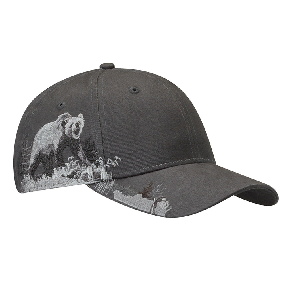 Dri Duck Grizzly Bear Brushed Twill Hat
