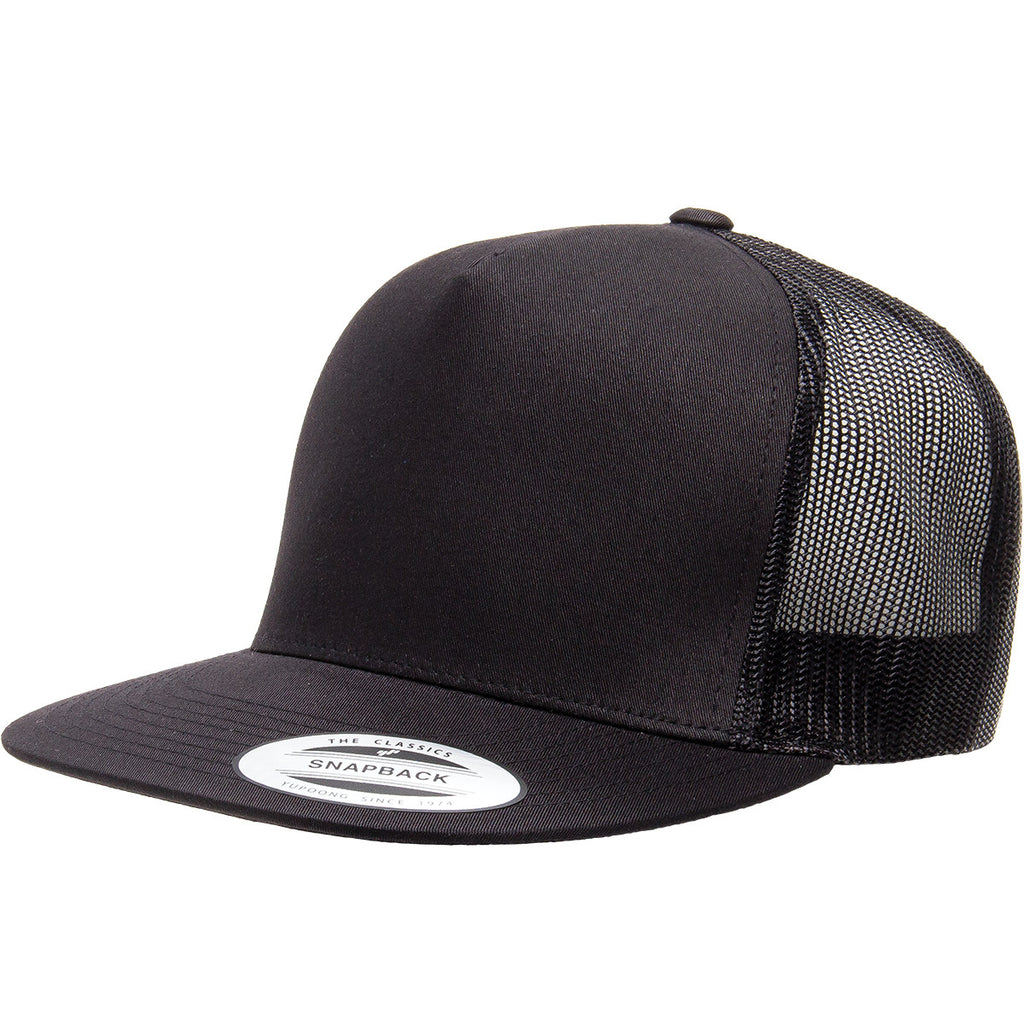 Yupoong Five Panel Flat Bill Trucker