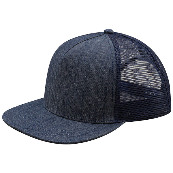 Mega Cap - Five-panel Flat Bill Trucker