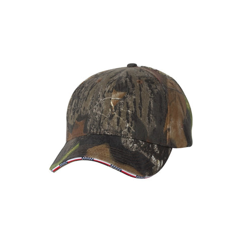 Kati Camo American Flag Split Bill Hat