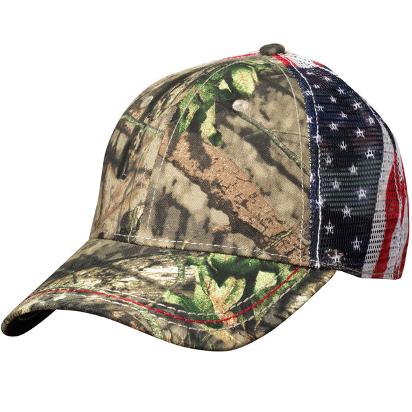 Outdoor Cap - American Flag Mesh Back
