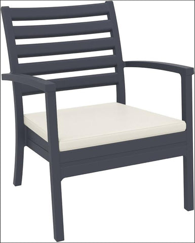 Compamia Artemis XL Club Chair Dark Gray ISP004-DGR - RestaurantFurniturePlus + Chairs, Tables and Outdoor - 1