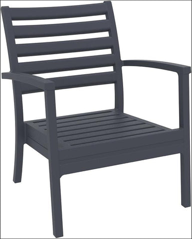 Compamia Artemis XL Club Chair Dark Gray ISP004-DGR - RestaurantFurniturePlus + Chairs, Tables and Outdoor - 2