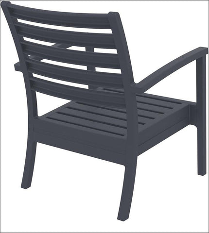 Compamia Artemis XL Club Chair Dark Gray ISP004-DGR - RestaurantFurniturePlus + Chairs, Tables and Outdoor - 4