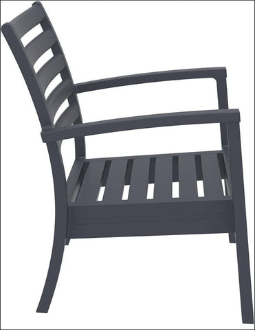 Compamia Artemis XL Club Chair Dark Gray ISP004-DGR - RestaurantFurniturePlus + Chairs, Tables and Outdoor - 6