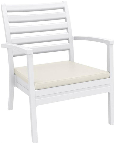 Compamia Artemis XL Club Chair White ISP004-WHI - RestaurantFurniturePlus + Chairs, Tables and Outdoor - 2