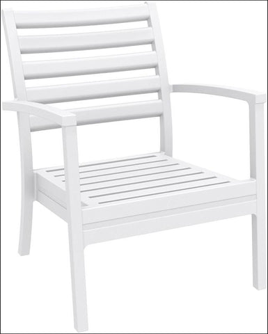 Compamia Artemis XL Club Chair White ISP004-WHI - RestaurantFurniturePlus + Chairs, Tables and Outdoor - 1