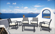 Compamia Artemis XL Club Seating Set 7 Piece Black ISP004S7-BLA - YourBarStoolStore + Chairs, Tables and Outdoor