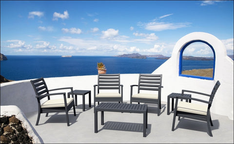 Compamia Artemis XL Club Seating Set 7 Piece Black ISP004S7-BLA - YourBarStoolStore + Chairs, Tables and Outdoor  - 2