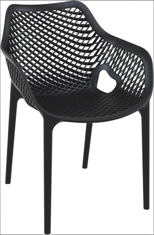Compamia Air XL Outdoor Dining Arm Chair Black ISP007-BLA - RestaurantFurniturePlus + Chairs, Tables and Outdoor - 1