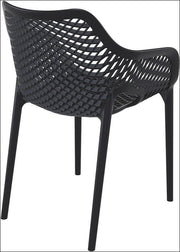 Compamia Air XL Outdoor Dining Arm Chair Black ISP007-BLA - RestaurantFurniturePlus + Chairs, Tables and Outdoor - 3