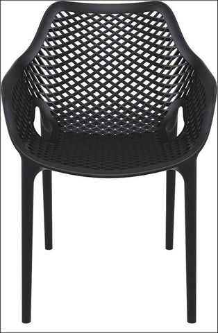 Compamia Air XL Outdoor Dining Arm Chair Black ISP007-BLA - RestaurantFurniturePlus + Chairs, Tables and Outdoor - 4