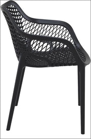 Compamia Air XL Outdoor Dining Arm Chair Black ISP007-BLA - RestaurantFurniturePlus + Chairs, Tables and Outdoor - 5