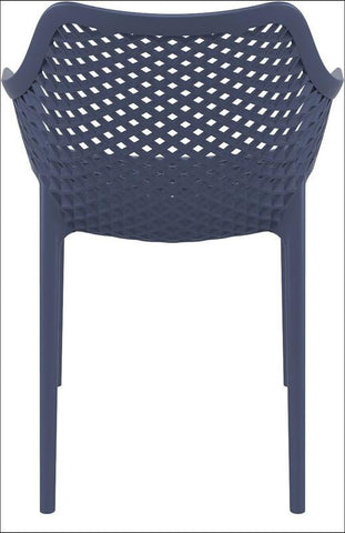 Compamia Air XL Outdoor Dining Arm Chair Dark Gray ISP007-DGR - RestaurantFurniturePlus + Chairs, Tables and Outdoor - 2