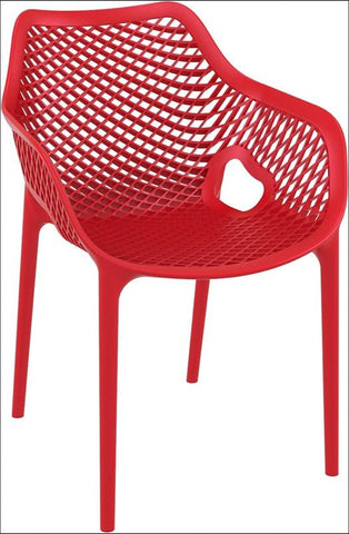 Compamia Air XL Outdoor Dining Arm Chair Red ISP007-RED - RestaurantFurniturePlus + Chairs, Tables and Outdoor - 1