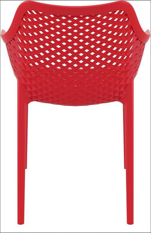Compamia Air XL Outdoor Dining Arm Chair Red ISP007-RED - RestaurantFurniturePlus + Chairs, Tables and Outdoor - 2