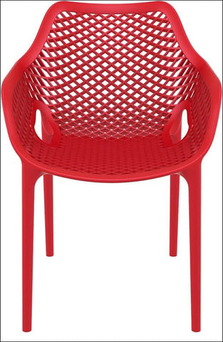 Compamia Air XL Outdoor Dining Arm Chair Red ISP007-RED - RestaurantFurniturePlus + Chairs, Tables and Outdoor - 4
