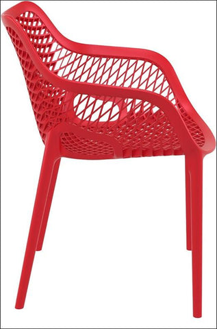 Compamia Air XL Outdoor Dining Arm Chair Red ISP007-RED - RestaurantFurniturePlus + Chairs, Tables and Outdoor - 5