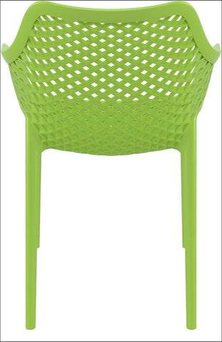 Compamia Air XL Outdoor Dining Arm Chair Tropical Green ISP007-TRG - RestaurantFurniturePlus + Chairs, Tables and Outdoor - 2