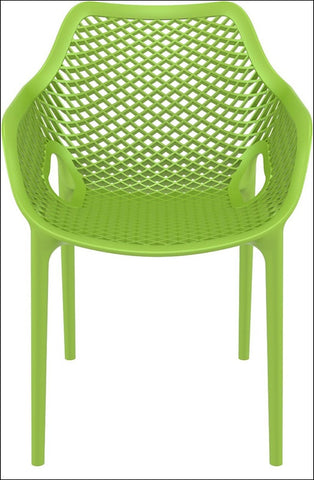 Compamia Air XL Outdoor Dining Arm Chair Tropical Green ISP007-TRG - RestaurantFurniturePlus + Chairs, Tables and Outdoor - 4